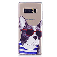Недорогие Чехлы и кейсы для Galaxy Note-Кейс для Назначение SSamsung Galaxy Note 8 Прозрачный С узором Задняя крышка С собакой Мягкий TPU для Note 8