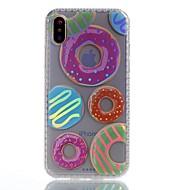 Назначение iPhone X iPhone 8 Plus Чехлы панели Покрытие IMD С узором Задняя крышка Кейс для Продукты питания Мягкий Термопластик для Apple