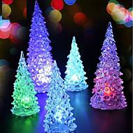 abordables Decoraciones de Celebraciones y Fiestas-Batería LED de energía de la lámpara 7 que cambia de color la luz de la noche escritorio mesa superior árbol de navidad decoración fiesta festiva