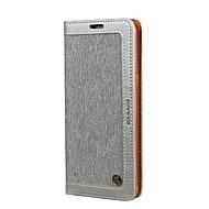 Χαμηλού Κόστους Galaxy S7 Θήκες / Καλύμματα-tok Για Samsung Galaxy S8 Plus S8 Πορτοφόλι Θήκη καρτών με βάση στήριξης Ανοιγόμενη Παγωμένη Πλήρης κάλυψη Συμπαγές Χρώμα Σκληρή PU Δέρμα