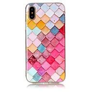 Назначение iPhone X iPhone 8 Чехлы панели Ультратонкий С узором Задняя крышка Кейс для Геометрический рисунок Мягкий Термопластик для