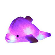 cheap Toys & Hobbies-Stuffed Toys Light Up Toys Pillow Toys Dolphin Animal Lighting Coral Fleece Linen/Cotton Not Specified Pieces