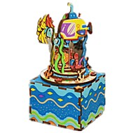 DIY KIT Music Box Kaleidoscope Toys Novelty Wood Pieces Kid Unisex Birthday Valentine's Day Gift