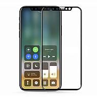Недорогие Защитные плёнки для экрана iPhone-Защитная плёнка для экрана Apple для iPhone X Закаленное стекло 1 ед. Защитная пленка для экрана 3D закругленные углы Против отпечатков