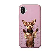 Недорогие Кейсы для iPhone 8 Plus-Кейс для Назначение Apple iPhone X iPhone 8 С узором Кейс на заднюю панель С собакой Мягкий ТПУ для iPhone X iPhone 8 Pluss iPhone 8