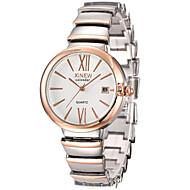 Mulheres Relógios Luxuosos Relógio de Pulso Relogio Dourado Quartzo Prata / Ouro Rose 30 m Venda imperdível Analógico senhoras Casual Fashion - Branco Preto Ouro Rose