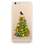 Недорогие Кейсы для iPhone 8 Plus-Назначение iPhone X iPhone 8 Чехлы панели Прозрачный С узором Задняя крышка Кейс для Рождество Мягкий Термопластик для Apple iPhone X