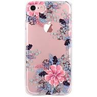 Недорогие Кейсы для iPhone 8-Кейс для Назначение Apple iPhone X iPhone 8 Прозрачный С узором Кейс на заднюю панель Цветы Мягкий ТПУ для iPhone X iPhone 8 Pluss iPhone