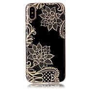 Недорогие Кейсы для iPhone 8-Кейс для Назначение Apple iPhone X iPhone 8 Ультратонкий С узором Кейс на заднюю панель Кружева Печать Мягкий ТПУ для iPhone X iPhone 8