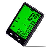 preiswerte -West biking Fahrradcomputer Wasserdicht Av - Durchschnittliche Geschwindigkeit Odo - Kilometerzähler LCD Verkabelt Max - Maximale
