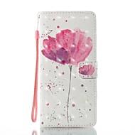 Недорогие Чехлы и кейсы для Galaxy Note 8-Кейс для Назначение SSamsung Galaxy Note 8 Бумажник для карт Кошелек со стендом Флип С узором Чехол Цветы Твердый Кожа PU для Note 8
