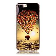 Недорогие Кейсы для iPhone 8-Назначение iPhone X iPhone 8 Чехлы панели С узором Задняя крышка Кейс для Воздушные шары Слон Мягкий Термопластик для Apple iPhone X
