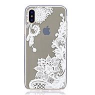 Назначение iPhone X iPhone 8 iPhone 8 Plus Чехлы панели Ультратонкий Прозрачный С узором Задняя крышка Кейс для Кружева Печать Мягкий