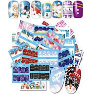 48 Nail Art Sticker  Pattern Accessories Water Transfer Sticker Water Transfer Decals Cartoon 3-D Christmas New Year Sticker DIY Supplies