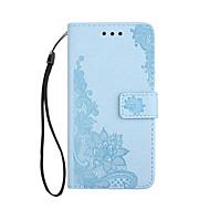 Недорогие Чехлы и кейсы для Galaxy Note 8-Кейс для Назначение SSamsung Galaxy Note 8 Бумажник для карт Кошелек со стендом Флип С узором Рельефный Чехол Цветы Сияние и блеск Твердый