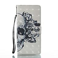 Кейс для Назначение SSamsung Galaxy Note 8 Кошелек Бумажник для карт со стендом Флип С узором Чехол Черепа Твердый Искусственная кожа для