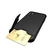 Недорогие Кейсы для iPhone 8 Plus-Кейс для Назначение Apple iPhone X iPhone 8 iPhone 8 Plus iPhone 7 Бумажник для карт со стендом Кейс на заднюю панель Сплошной цвет