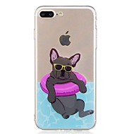 abordables Ofertas de Hoy-Funda Para Apple iPhone 7 / iPhone 7 Plus Transparente / Diseños Funda Trasera Perro Suave TPU para iPhone 7 Plus / iPhone 7 / iPhone 6s Plus