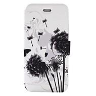 Назначение iPhone X iPhone 8 Чехлы панели Бумажник для карт со стендом Флип С узором Чехол Кейс для одуванчик Твердый Искусственная кожа
