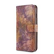 Кейс для Назначение Apple iPhone X iPhone 8 iPhone 8 Plus Кошелек Бумажник для карт Защита от удара со стендом Флип Чехол Сплошной цвет