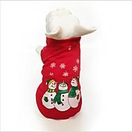 abordables Disfraces de Navidad para mascotas-Gato Perro Sudadera Ropa para Perro Copo Rojo Algodón Disfraz Para mascotas Fiesta Casual/Diario Cosplay Mantiene abrigado Navidad