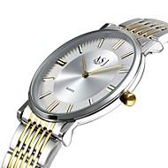billige -ASJ Dame Armbåndsur Japansk Stor urskive Rustfritt stål Band Fritid / Minimalistisk / Elegant Hvit