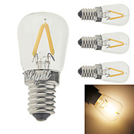 2W E14 LED필라멘트 전구 G60 2 LED가 COB 장식 따뜻한 화이트 150-200lm 3000K AC 220-240V