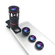 abordables Fotografía con Smartphone-Macro 10X 0.67X Gran angular Lente de la cámara Lens for Smartphone Xiaomi Huawei Samsung iPhone