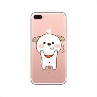Недорогие Кейсы для iPhone 8 Plus-Кейс для Назначение Apple iPhone X iPhone 8 Прозрачный С узором Кейс на заднюю панель С собакой Мягкий ТПУ для iPhone X iPhone 8 Pluss