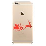 Недорогие Кейсы для iPhone 8 Plus-Кейс для Назначение Apple iPhone X iPhone 8 iPhone 8 Plus Прозрачный С узором Задняя крышка Рождество Мягкий TPU для iPhone X iPhone 8