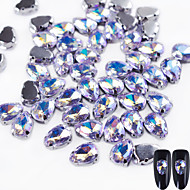cheap Makeup & Nail Care-10 Glitter Accessories Crystal Rhinestones Nail Jewelry DIY Supplies 3-D Glitters Crystal Fashionable Jewelry Luxury Geometric Jeweled
