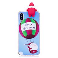 Недорогие Кейсы для iPhone 8 Plus-Кейс для Назначение Apple iPhone X iPhone 8 Plus С узором Своими руками Задняя крышка 3D в мультяшном стиле Рождество Мягкий TPU для