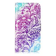 Кейс для Назначение Apple iPhone X iPhone 8 iPhone 8 Plus Кошелек Бумажник для карт со стендом Флип С узором Чехол Цветы Твердый