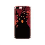 Недорогие Кейсы для iPhone 8-Кейс для Назначение Apple iPhone X iPhone 8 iPhone 8 Plus С узором Кейс на заднюю панель Halloween Мягкий ТПУ для iPhone X iPhone 8 Pluss