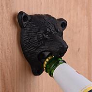 fonte métal mur monté noir ours bière décapsuleur cuisine utile outil