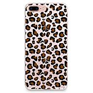 Недорогие Кейсы для iPhone 8-Кейс для Назначение Apple iPhone X iPhone 8 iPhone 8 Plus Ультратонкий С узором Кейс на заднюю панель Леопардовый принт Мягкий ТПУ для