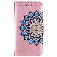Funda Para Samsung Galaxy Cartera Soporte de Coche Flip En Relieve Diseños Cuerpo Entero Mandala Flor Dura Cuero Sintético para S8 S8