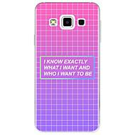 Недорогие Чехлы и кейсы для Galaxy A5(2016)-Кейс для Назначение SSamsung Galaxy С узором Кейс на заднюю панель Слова / выражения Геометрический рисунок Мягкий ТПУ для A3 (2017) A5