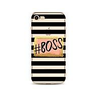 Недорогие Кейсы для iPhone 8 Plus-Кейс для Назначение Apple iPhone X iPhone 8 С узором Кейс на заднюю панель Полосы / волосы Слова / выражения Мягкий ТПУ для iPhone X