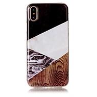 Недорогие Кейсы для iPhone 8 Plus-Кейс для Назначение Apple iPhone X / iPhone 8 / iPhone 8 Plus IMD / С узором Кейс на заднюю панель Имитация дерева / Мрамор Мягкий ТПУ для iPhone X / iPhone 8 Pluss / iPhone 8