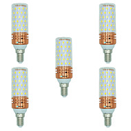 5pcs 16W E14 LED Corn Lights T 84 leds SMD 2835 Warm White White Dual Light Source Color 1300lm 3000-3500  6000-6500  3000-6500K AC