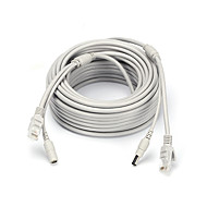 Καλώδια 164ft Ethernet Cable RJ45 & DC Power CAT5/CAT-5e Extension CCTV Cable Line για Ασφάλεια συστήματα 5000cm 1.2kg