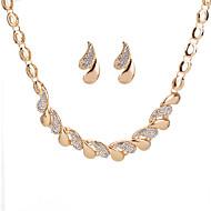 Mulheres Geométrico Conjunto de jóias Strass Caído senhoras, Geométrico Incluir Brincos Curtos Colar Dourado / Prata Para Diário Encontro / Colares