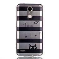 お買い得  携帯電話ケース-ケース 用途 LG パターン バックカバー ライン/ウェイブ ソフト TPU のために LG K10(2017) LG K8(2017)