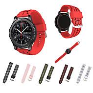 Недорогие Аксессуары для смарт-часов-Ремешок для часов для Gear S3 Frontier Gear S3 Classic Samsung Galaxy Спортивный ремешок силиконовый Повязка на запястье