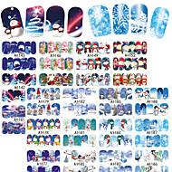 2 아트 스티커 네일 패턴 악세사리 아트 데코/레트로 물 이동 스티커 DIY 용품 스티커 3-D 크리스마스 새해 메이크업 화장품 아트 디자인 네일
