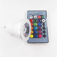 お買い得  LED スポットライト-300 lm GU10 LEDスポットライト MR16 1 LEDの ハイパワーLED 調光可能 装飾用 リモコン操作 RGB AC 100-240V