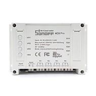 abordables Interruptor inteligente-sonoff® 4ch pro 10a 2200w rf inching / autobloqueo / enclavamiento casa inteligente wifi inalámbrico aplicación de interruptor ac 90v-250v / 5-24v dc