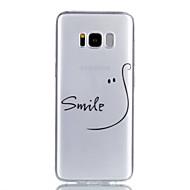Недорогие Чехлы и кейсы для Galaxy S8 Plus-Кейс для Назначение SSamsung Galaxy S8 Plus S8 Прозрачный С узором Кейс на заднюю панель Слова / выражения Мягкий ТПУ для S8 Plus S8 S7
