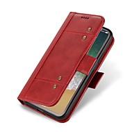 Недорогие Чехлы и кейсы для Galaxy S7-Кейс для Назначение SSamsung Galaxy S8 S7 edge Бумажник для карт Кошелек Флип Чехол Сплошной цвет Твердый Настоящая кожа для S8 Plus S8